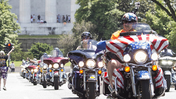#5 Parade, Walk & Festival At the Ride for Freedom, motorcycle riders follow a parade route from the Pentagon parking lots to West Potomac Park to honor veterans of American wars and publicize the issue of prisoners of war and soldiers missing in action. Next: May 24, 2015