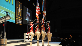 #4 Trade Show & Convention More than 30,000 attendees come to the event, which tackles military and national security subjects and offers exhibits that cover more than 250,000 square feet of space at the Walter E. Washington Convention Center. Next: October 13-15, 2014