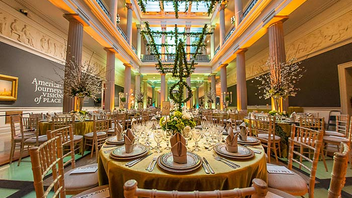 #10 Benefit The event's future is uncertain after the Corcoran Gallery of Art's merger with the National Gallery and George Washington University. But this year still drew 780 guests, an increase from 2013, and raised about $600,000. Event designers Jack Lucky of Jack H. Lucky Floral Design, Eric Michael from Occasions Caterers, and Peter Grazzini of Perfect Settings once again decorated the tables in the 15 galleries under the theme 'Encouraging American Genius.' Next: Spring 2015