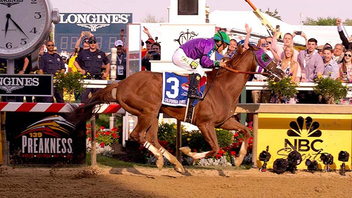 #1 Sports Event Held at Pimlico Race Course in Baltimore, the middle jewel of horse racing's Triple Crown drew more than 123,000 fans for not only the stakes—which Kentucky Derby champion California Chrome won—but also the InfieldFest with headlining artists Lorde and Nas. Next: May 16, 2015