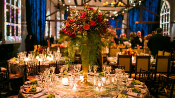 #4 Benefit The event paid tribute to outgoing Kennedy Center president Michael M. Kaiser and raised a record $2.4 million. The evening, sponsored by Boeing, included a concert performance of Camelot, dinner, and the 'Til Midnight party on the center's Roof Terrace. Next: May 3, 2015