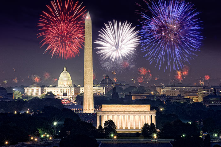 #3 Holiday Event Held on the West Lawn of the U.S. Capitol, the fireworks display and concert featured host Tom Bergeron and the National Symphony Orchestra. More than half a million people attend in person, and the show airs live on PBS. Next: July 4, 2015