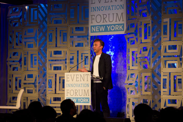 Nicky Balestrieri, managing creative director of BMF Media, spoke about design at the Event Innovation Forum—New York.
