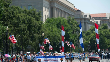 #3 Parade, Walk & Festival Marching bands from across the country, fife and drum corps, floats, military and specialty units, and others take part in the patriotic walk down Constitution Avenue. Next: July 4, 2015