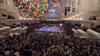 #13 Music Event The champagne-filled celebration includes dinner at the War Memorial Opera House followed by a concert and onstage dancing. At midnight this year, 2,014 colorful balloons will spill down from the ceiling. Next: December 31, 2014