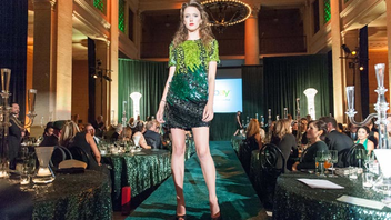 #4 Fashion Industry Event Goldie Hawn and Catt Sadler were among the celebrity guests at this year's event, which centered on an eco-friendly fashion show. The sold-out event raised $400,000 for Global Green USA. Next: October 2015
