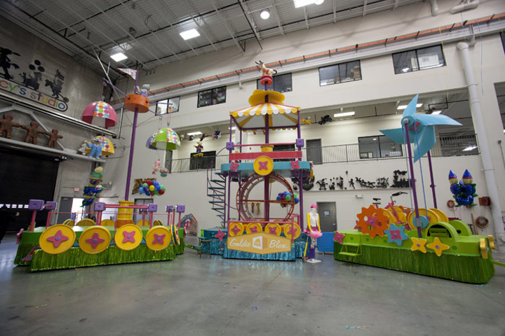 The new GoldieBlox float in the Macy's Thanksgiving Day parade will have moving parts—including parachutes and pinwheels—powered by kids.