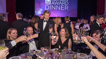 #4 Advertising Industry Event At the Waldorf Astoria, 1,350 guests—and host Stephen Colbert—honored winners of the prominent industry organization's award last year. Next: November 11, 2015