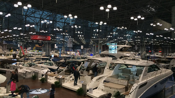 #4 Trade Show & Convention At 110 years old, the event still draws huge crowds to the Jacob K. Javits Convention Center. In 2015, visitors got to check out attractions like a 51-foot, $1.2 million yacht and a special exhibit honoring the FDNY. Progressive Insurance is the title sponsor. Next: January 6-10, 2016