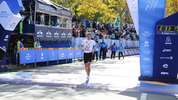#2 Sports Event More than 50,000 runners crossed the finish line of the world's biggest marathon in 2014, which marked the race's first year with new title sponsor Tata Consultancy Services, along with new sponsors Airbnb and Tag Heuer. Next: November 1, 2015