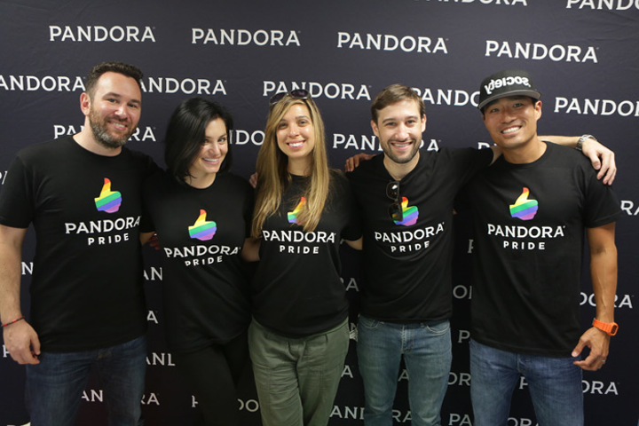 Pandora employees volunteered with the Ally Coalition last month at the Los Angeles L.G.B.T. Center.