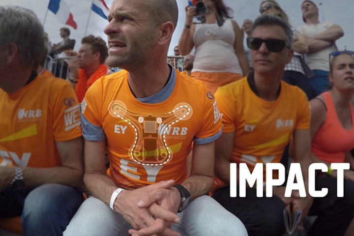In late June, Wearable Experiments unveiled its Netherlands Fan Jersey for fans of the Dutch Ladies Sevens rugby team. The shirt is embedded with haptic feedback motors that transmit the emotion and action of the game in real time to the person wearing it. Using Bluetooth low energy, the shirt can transmit feelings of impact, heartbeat, exhaustion, adrenaline, and excitement.