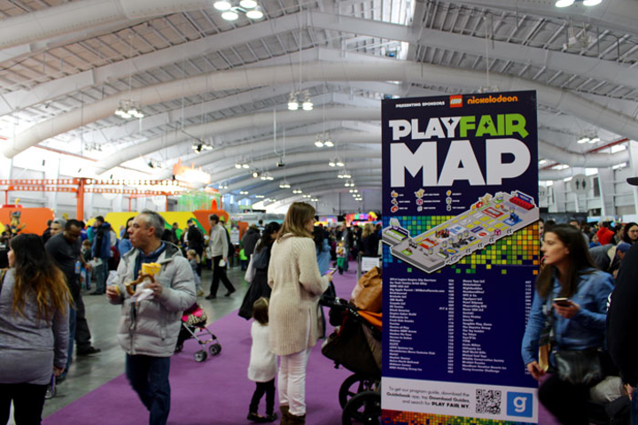 The first Play Fair took place at Javits Center North in New York on February 13 and 14. The family-friendly event was open to the public and included entertainment, activities, and other experiences from brands like Lego, Nickelodeon, Crayola, and Hasbro.