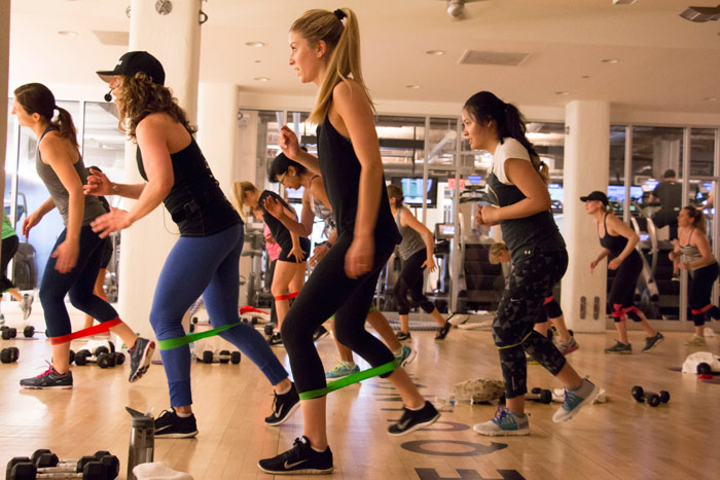 Equinox gyms host group workouts that can take place over the course of an hour or several weeks.
