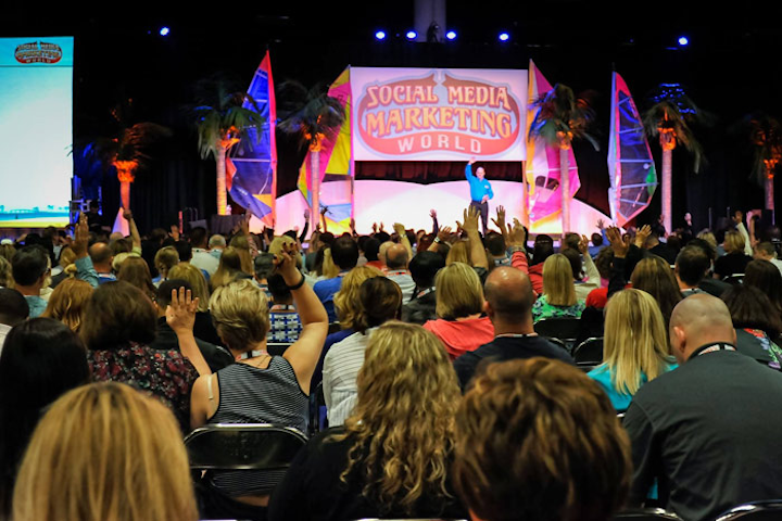 Social Media Marketing World has been growing steadily since its inception in 2013. This year, the three-day conference was held in the San Diego Convention Center, instead of a hotel, to accommodate the crowd of more than 3,000 attendees.