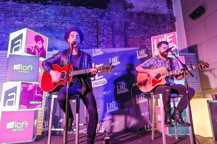 As part of the 'Live at Aloft Concert Tour,' singer Nick Fradiani performed at Aloft Manhattan Downtown on April 19.