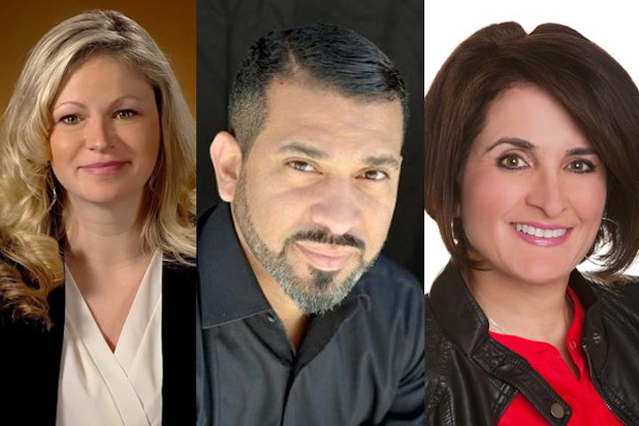(Pictured, left to right) Amanda Blissit, Jorge Lopez, Lorraine Mariella