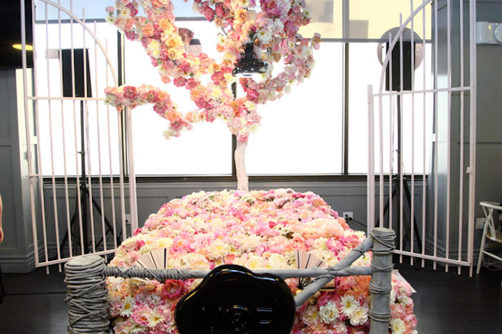 Vanity Fair Social Club sponsor Viktor & Rolf produced a photo booth activation for last year's Emmys in Los Angeles that featured a floral bed with a camera.