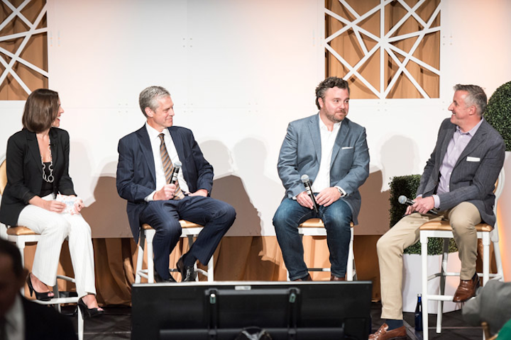 Pictured, from left: BizBash executive editor Beth Kormanik; Occasions Caterers owner and creative director Eric Michael; Steve Kerrigan, former president of the Presidential Inaugural Committee; and Hargrove vice president of events Ron Bracco.