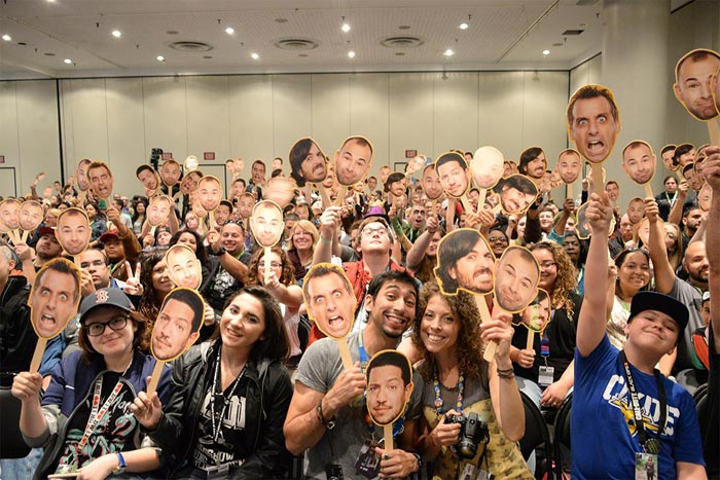 Fans of TruTV's Impractical Jokers gathered during a panel featuring the show's stars at New York Comic Con in 2015. Impractical Jokers will return with a panel at this year's event.