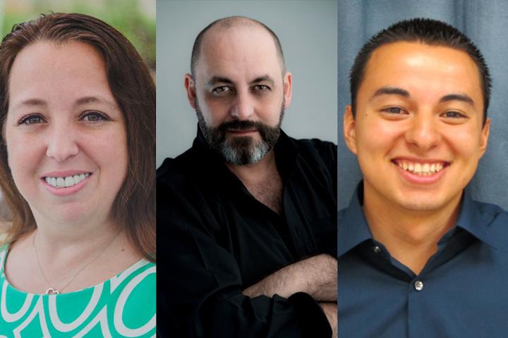 (Pictured, left to right): Christina Goldstein, Darren Kerr, Christopher Delgado
