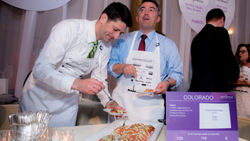 #19 Benefit (up from #21) House Speaker Paul Ryan and House Minority Leader Nancy Pelosi, along with other members of Congress, united for a friendly competitive cook-off at the 34th annual March of Dimes Gourmet Gala, held May 17 at the National Building Museum. U.S. senators, representatives, and their guests participated as celebrity chefs, competing in six categories of achievement. In lieu of a seated dinner, the 650 attendees enjoyed additional time participating in tasting of the cuisine and networking with other guests. The event, which raised more than $1 million, attracted about 90 corporate sponsors, including BNSF, Mars, Volkswagen, Wine Institute, Chevron, and Microsoft. All proceeds of the event support March of Dimes programs and research aimed at improving the health of babies by preventing premature birth, birth defects, and infant mortality. Next: May 23, 2017