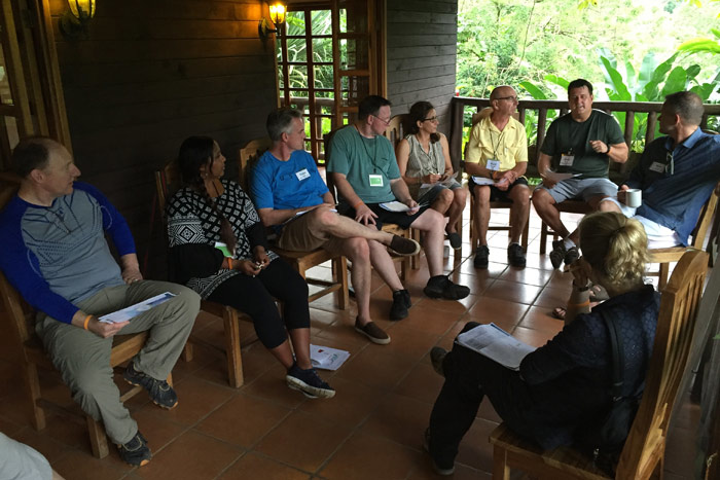 Rather than holding meetings in traditional conference rooms, Cisewski suggests trying unconventional locations to create a more meaningful and memorable experience. During the Executive Thought Leader Summit in Costa Rica, one day of programming took place on the balcony of a cabin in the woods at Rancho Margot.