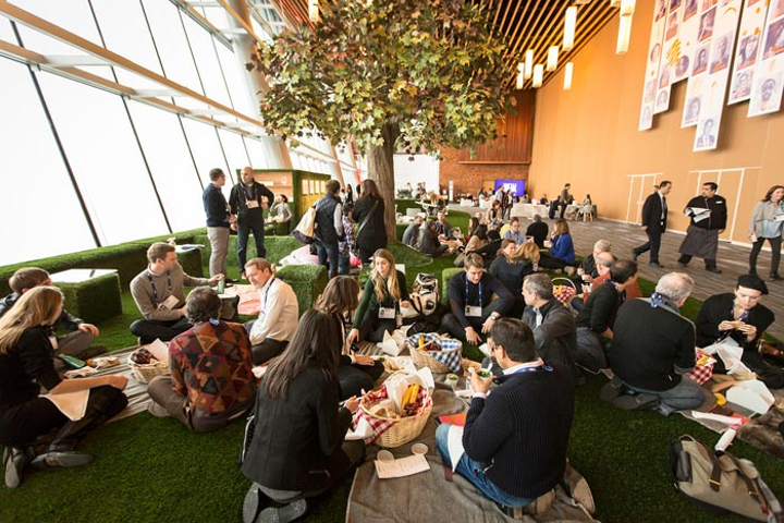 Getting event attendees to connect with each other should be a key goal of any event—like this picnic lunch break at the 2016 TED Conference.