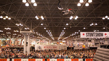 #3 Trade Show & Convention Sponsored by Progressive Insurance, the New York International Motorcycle Show attracts some 60,000 attendees each year. Last year's event featured the debut of Vanguard, a new motorcycle brand, as well as a stunt show, a tattoo parlor sponsored by Inked magazine, a Kids Zone presented by Allstate, and an on-site hair and beauty salon. Next: December 2017
