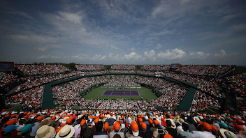 #2 Sports Event More than 300,000 fans come to see the sport's greats play at on the 21 courts of the Tennis Center at Miami's Crandon Park. In 2017, Roger Federer and Johanna Konta took the top men's and women's prizes, respectively. Next: March 19-April 1, 2018