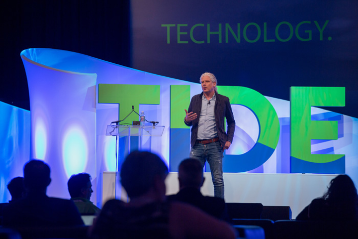 Jack Morton managing director Jens Oliver Mayer was one of the speakers at TIDE, a new conference about using storytelling and technology to create memorable experiences for attendees. The event was an addition to the education offerings at InfoComm 2017.