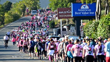 #10 Sports Event (up from #11) The event is a two-day, 39-mile walking tour of the Bay Area, complete with an urban campout in pink tents. More than 1,900 participants participated in the 2016 walk, raising $4.4 million for the fight against breast cancer. Money raised through the walk directly benefited Bay Area breast cancer resources, including the Shanti Project, Stanford Medical School, and the Charlotte Maxwell Clinic. Next July 8-9, 2017