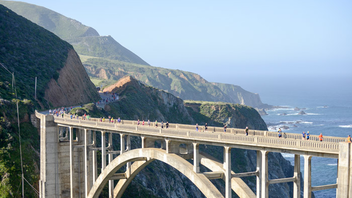 """#3 Sports Event The Big Sur Marathon began in 1986 with 1,800 runners and has grown to 4,700 runners as of 2017. Runner's World declared it one of the top three marathons in the U.S. It's also been named the Best Destination Marathon in North America, most scenic marathon (thanks, no doubt, to the pass over the Bixby Bridge), and one of the world's """"Top Ten Races To Do Before You Die."""" Next: April 29, 2018"""