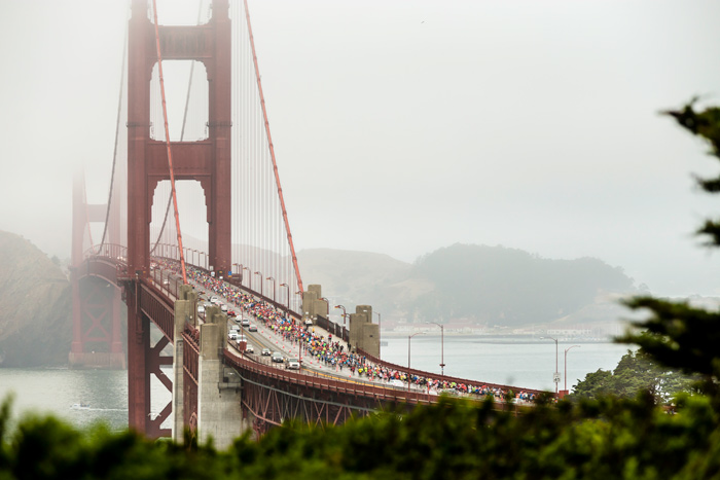 #6 Sports Event More than 27,000 runners will take to the streets this summer for the 40th San Francisco Marathon, passing along the Embarcadero, Fisherman's Wharf, and Crissy Field in the process. The route includes landmarks like the Golden Gate Bridge, Coit Tower, Golden Gate Park, and AT&T Park, and neighborhoods such as Haight-Ashbury and the Mission. It's the city's finest tourist highlights, wrapped inside a grueling race. Next: July 23, 2017