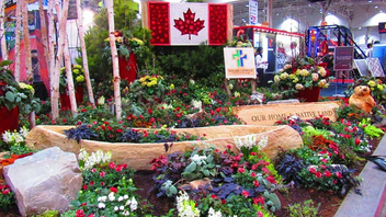 Niagara Catholic School Board designed the event's welcome garden.