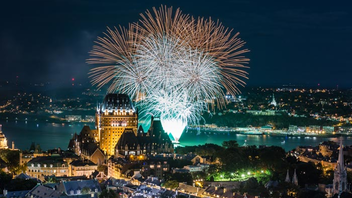 Quebec City #7 Festival & Parade The international fireworks festival added pre-show dance parties on the piers in 2017, when about 300,000 spectators took in the pyrotechnics. RBC remained the presenting sponsor, and Hilton Québec and Delta Québec came on board. Next: Summer 2018