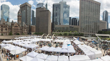 Toronto #10 Art & Design Event (new to the list) Canada's largest and longest-running outdoor art exhibition returned to Nathan Phillips Square in 2017, when 340 artists showed their work and crowds grew to 115,000. Artists received $40,000 worth of prizes, the most in the show's 56-year history. Next: July 2018