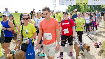 #10 Sports Event Known as Chicago's largest dog-friendly event, the 5K walk and run takes place at Montrose Harbor each June. Benefiting homeless animals, the event drew 4,000 guests this year—an increase from its typical crowd of 3,000—and 1,500 pets. The event also offered everything from a kids' dash to yoga to a parade of adoptable dogs. Next: Spring 2018