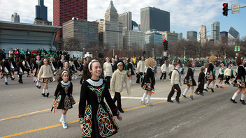 #2 Parade & Holiday Event The Chicago River gets dyed green for the iconic city event. Some 400,000 spectators gather to watch the parade, which featured some 128 units this year. Entertainment included Irish dancers and bagpipers, as well as military marching bands. Next: March 2018