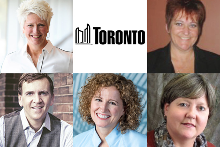 (Pictured, top row from left): Heather Broll, City of Toronto, Francine Miller. (Bottom row from left) Jeff Rogers, Johanne Bélanger, Virginia Ludy.