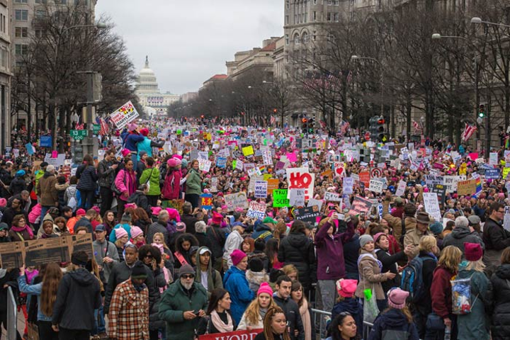 The Women's March on January 21 became the largest single-day protest in history, with an estimated five million participants worldwide.