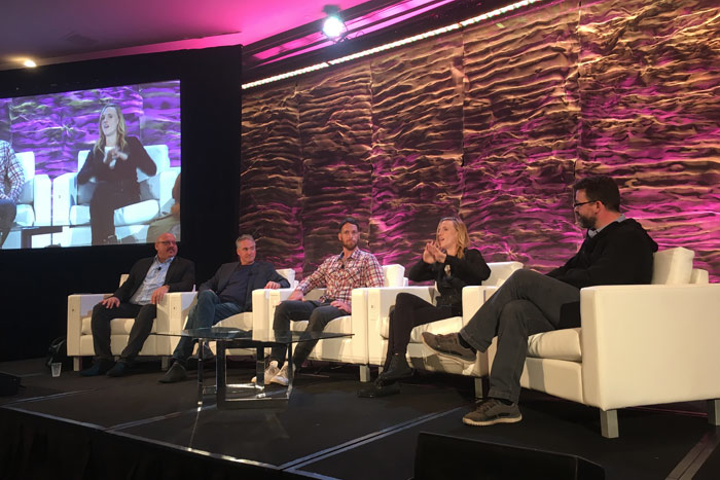 (From left) Seth Shapiro of the Television Academy, Ted Schilowitz of Paramount Pictures, Kevin Cornish of Moth & Flame, Christina Heller of VR Playhouse, and Ben Grossman of Magnopus shared their predictions on the future of virtual and augmented reality.