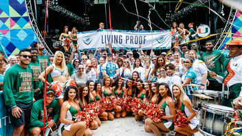 #8 Sports Event More than $3.4 million were raised during 2018's Dolphins Cycling Challenge, bringing the sporting events to-date total to over $22.5 million for the Sylvester Comprehensive Cancer Center. The Goo Goo Dolls and Big Head Todd & the Monsters headlined the DCC VII Finish Line Celebration. Over 3,000 cancer survivors and supporters run, walk, and cycle various routes offered throughout the tri-county area. Next: February 2019
