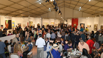 #6 Art & Design Event In 2018, Art Wynwood relocated to the Art Miami and Context Art Miami site on Biscayne Bay. Produced by Art Miami, the Art Wynwood debuted its seventh edition over President's Day weekend, boasting work from 180 artists from 60 international galleries. Attendance was estimated at 25,000. It was announced during the fair that the Miami Yacht Show will be the fair's neighbor at the Resorts World Miami waterfront property for Art Wynwood 2019 and beyond, where they will use the waterfront and concrete pads that Art Miami uses each December. Next: February 14-18, 2019