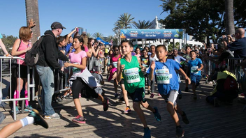#10 Sports Event The marathon begins in Downtown Long Beach, and runners head toward the historic Queen Mary and then through Shoreline Village. Participants continue adjacent to the Pacific Ocean on the scenic flat beach path. In addition to the main event, related events also include a half marathon, a run/walk, a bike tour, a kids' fun run, a health and fitness expo, and a finish-line festival. JetBlue is the title sponsor. Next: October 5-7, 2018