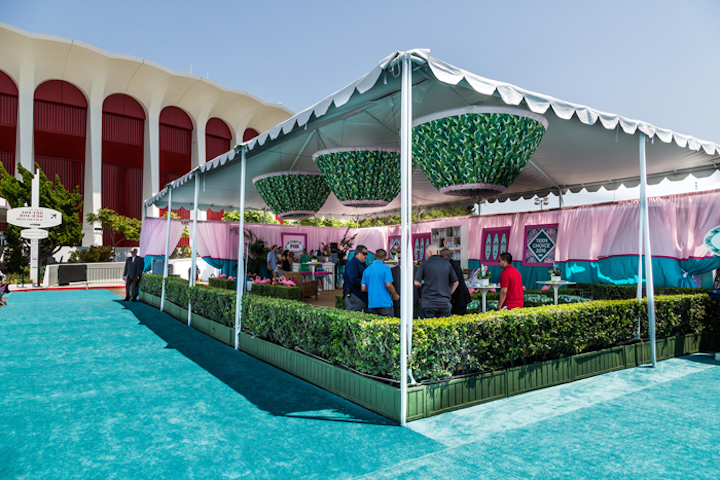Jaime Geffen of Geffen Events says it's important that V.I.P. lounges feel private, safe, and exclusive—without being too over-the-top. She previously helped create the V.I.P. arrivals tent at the 2016 Teen Choice Awards (pictured), which served as an extension of the red carpet.