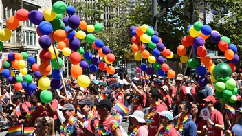 #1 Parade, Holiday Event & Fair San Francisco is home to the largest L.G.B.T. pride celebration in the United States. In 2018, nearly a million people turned out for the weekend, including 50,000 marchers and 282 parade contingents. It's common practice in the Bay Area for businesses such WeWork, Equinox, and others to enter floats or groups in the parade, so participation becomes a manifestation of a company's inclusive policies. In addition to the main parade route, organizers arrange a variety of side stages and activations where revelers can enjoy music, dancing, storytelling, kink, and more. Next: June 29-30, 2019