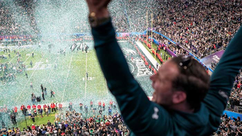 National #1 Sports Event The Philadelphia Eagles defeated the New England Patriots 41-33 to win Super Bowl LII, which took place at the U.S. Bank Stadium in Minneapolis. Justin Timberlake headlined the Pepsi-sponsored halftime show, where he performed a medley of his songs as well as a tribute to hometown legend Prince. Brands including DirecTV, Playboy, and Maxim held major events during the weekend, but ESPN opted out for the first time in more than a decade to focus on its College Football Playoff presence. The game averaged 103.4 million viewers, making it the least-watched Super Bowl since 2009. Next year's game will take place in Atlanta. Next: February 3, 2019
