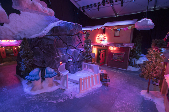 To promote the upcoming film Smallfoot, Warner Bros. worked with Experiential Supply Co. to build a two-story immersive experience at the corner of Hollywood and Vine. The activation transports guests to the film's snowy world with yeti photo ops, arts and crafts, a 20-foot slide, and other family-friendly activities. It's open to the public until September 14.