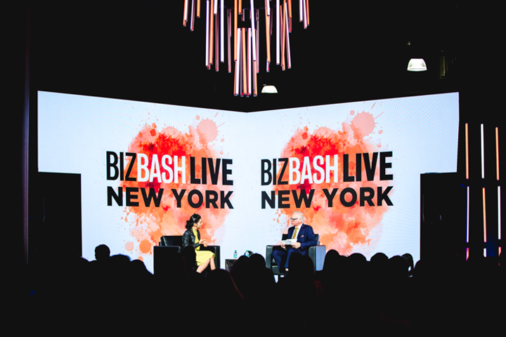 Author Priya Parker and BizBash C.E.O. David Adler discussed the art of creating meaningful gatherings at the Event Innovation Forum at BizBash Live: New York. Later, in a masterclass session, Kevin Mignone of KM Productions shared how his team created the stage.